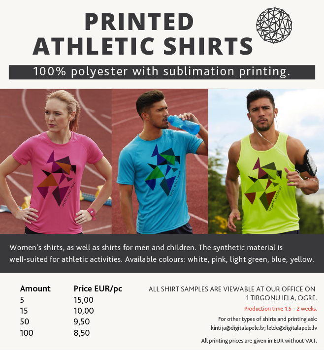 PRINTED  ATHLETIC SHIRTS in sublimation