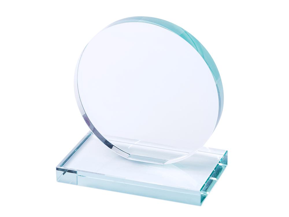 apaļa stikla balva, gravēšana