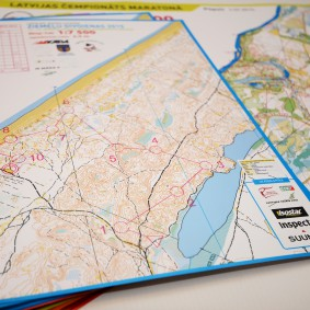 Orienteering maps, layout design, printing