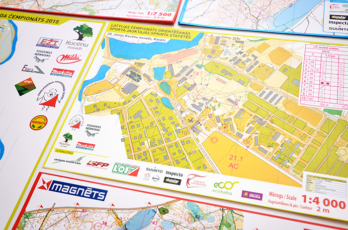 Orienteering map print
